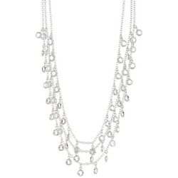 You're Invited Silver Channel Multi Row Necklace