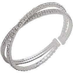 You're Invited Silver Tone Rhinestone Bracelet