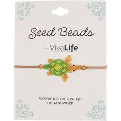Viva Life Seed Bead Adjustable Sea Turtle Bracelet