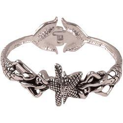 Viva Life Double Mermaid Hinged Cuff Bracelet