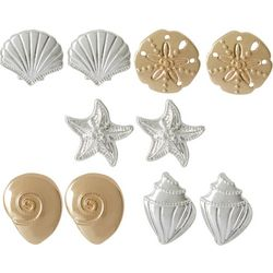 Bay Studio 5-pc. Two Tone Sealife Stud Earring Set