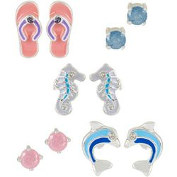 Bay Studio 5-pc. Silver Tone Coastal Stud Earring Set