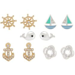 Bay Studio 5-pc. Nautical Two Tone Earring Set