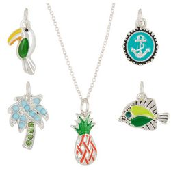 Bay Studio 5-pc. Silver Tone Tropical Pendant & Necklace Set