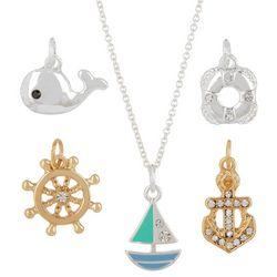Bay Studio 5-pc. Nautical Two Tone Pendant & Necklace Set