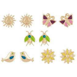 Bay Studio 5-pc. Gold Tone Flower Sun Earring