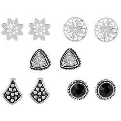 Bay Studio 5-pc. Black Bali Assortment Earring Set