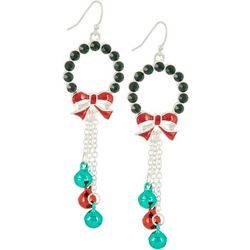 Brighten the Season Wreath & Jingle Bell Earrings