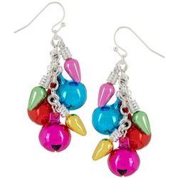 Brighten the Season Metallic Multi Bulb Cluster Earrings