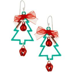 Brighten the Season Holiday Tree Dangle Earrings