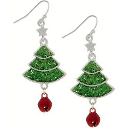 Brighten the Season Holiday Glitter Tree Earrings