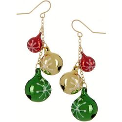 Brighten the Season Holiday Ornaments Dangle Earrings