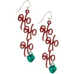 Brighten the Season Ho Ho Ho Linear Earrings