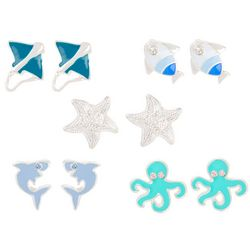 Bay Studio Shark Octopus Fish Earring Set