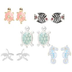 Bay Studio Multiples 5-pc. Sea Life Earring Set