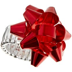 Brighten the Season Holiday Red Bow Stretch Ring