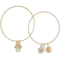 Brighten the Season Holiday 2-pc. Charm Bangle Bracelet