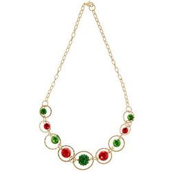 Brighten the Season Holiday Bead & Ring Necklace