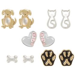 Bay Studio 5-pc. Dog & Cat Stud Earring