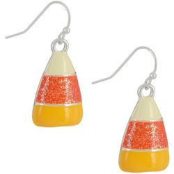 Halloween Enamel Candy Corn Drop Earrings