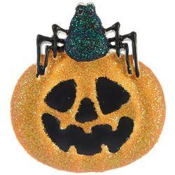 Halloween Glitter Spider & Pumpkin Pin