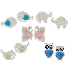 Bay Studio 5-pc. Bird Owl Fish Stud Earring