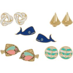Bay Studio Multiples 5-pc. Nautical Earring Set