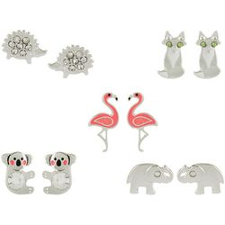 Bay Studio Multiples 5-pc. Animal Earring Set