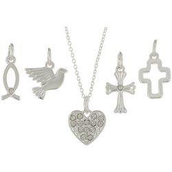 Bay Studio Multiples 5-pc. Faith Heart Necklace Set