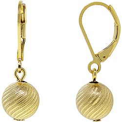1928 Jewelry Gold Tone Textured Ball Drop Earrings