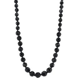 1928 Jewelry Black Beaded Necklace