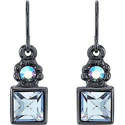 1928 Jewelry Light Blue Aurora Borealis Drop Earrings