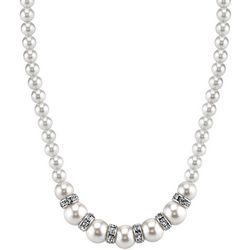 1928 Jewelry Pearl & Crystal Rhondell Necklace