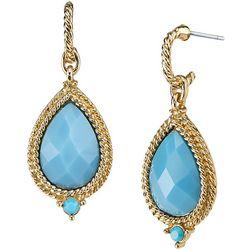 1928 Jewelry Turquoise Blue Teardrop Post Earrings