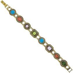 1928 Jewelry Multi Cabochon Link Bracelet