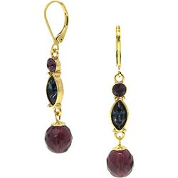 1928 Jewelry Purple Multi Linear Drop Earrings
