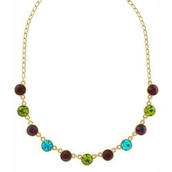 1928 Jewelry Jewel Tone Stone Collar Necklace
