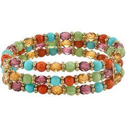 1928 Jewelry Multi Row Beaded Stretch Bracelet