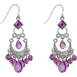 1928 Jewelry Purple Bead Chandelier Earrings