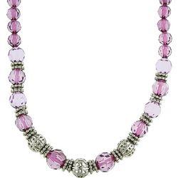 1928 Jewelry Purple Facet Beaded Necklace
