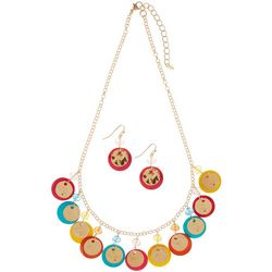 Paradise Shores Bright Shell Shaky Necklace Set