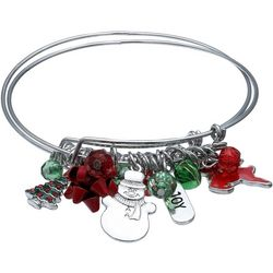 Brighten the Season 2-pc. Joy & Bow Bangle Bracelet Set
