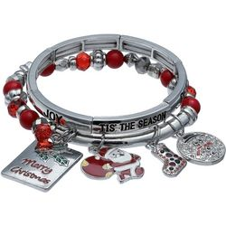 Brighten the Season Peace Joy Charm Bracelet Set