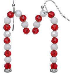 Brighten the Season Holiday Candy Cane Earrings