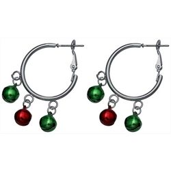 Brighten the Season Jingle Bell Hoop Earrings