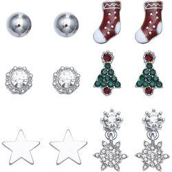 Brighten the Season 6-pc. Holiday Stud Earring Set