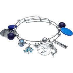 Jules B Blue Multi Florida Sunshine Bangle Bracelet Set
