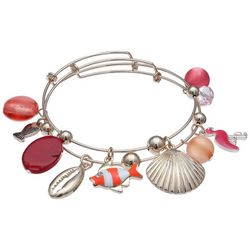 Jules B Duo Sealife Coastal Charm Bangle Bracelet Set