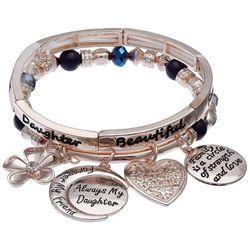 Jules B Always My Daughter Stretch Bracelet Set