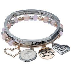 Jules B Live Laugh Love Stretch Bracelet Set